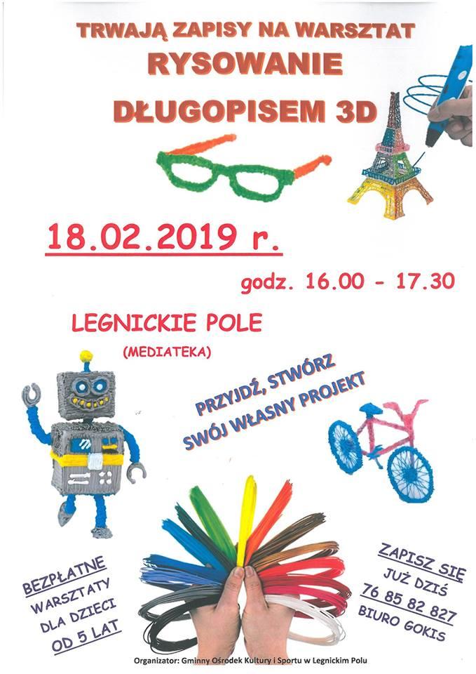Warsztaty 3D w  Legnickim Polu