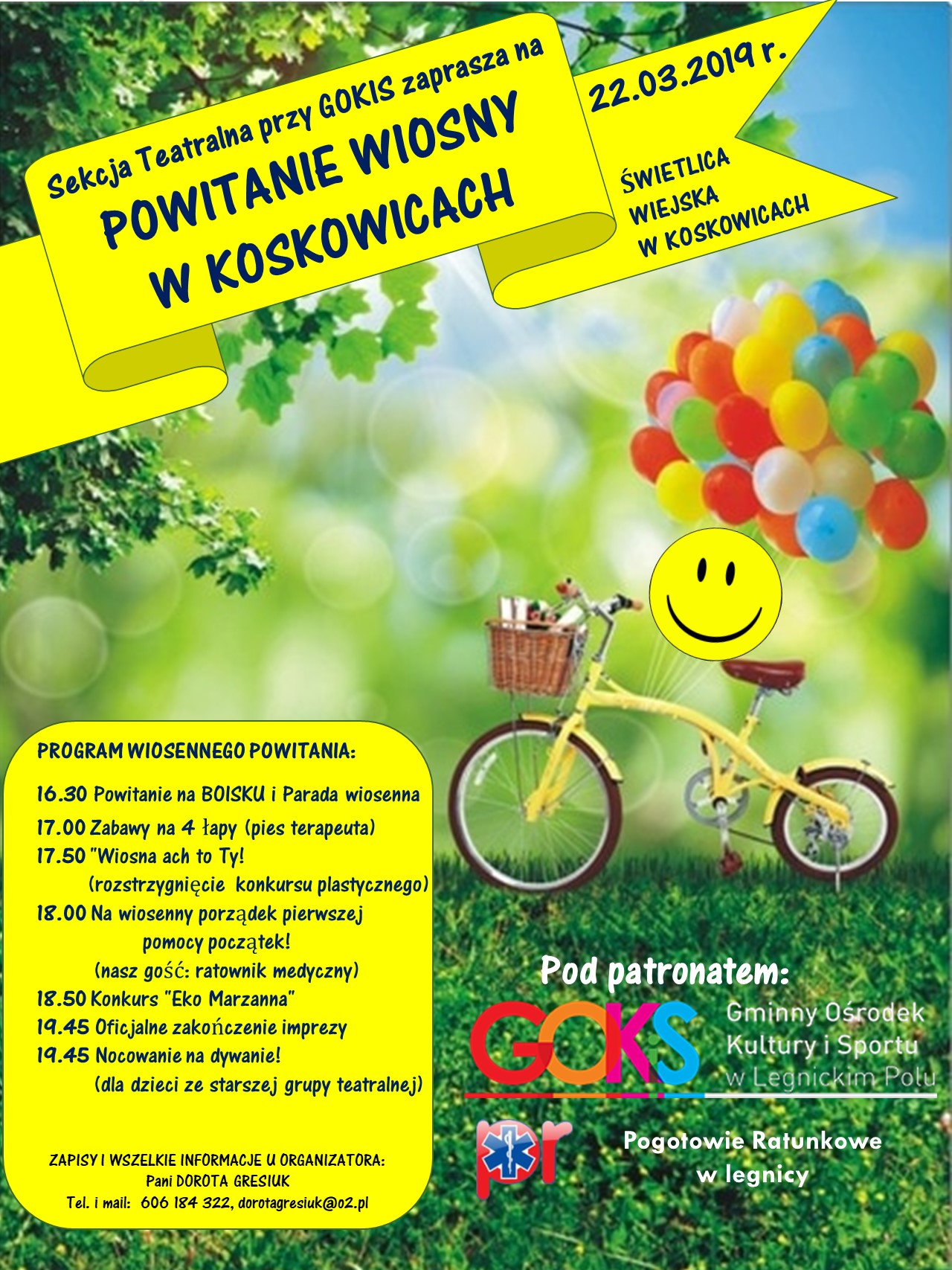 Powitanie wiosny w Koskowicach - sekcja teatralna